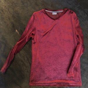 Versace Scarlet Velvet Tunic